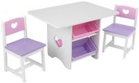 Barnbord & två stolar Hjärta