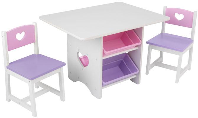 Kidkraft Barnbord & två stolar Hjärta