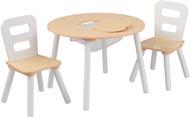 Barnbord & 2 barnstolar - natur