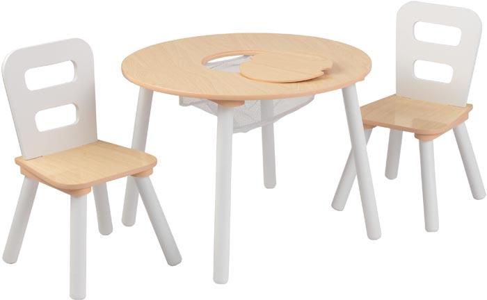 Kidkraft Barnbord & 2 barnstolar - natur