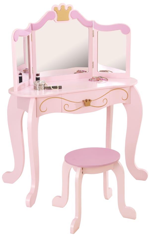 Kidkraft Sminkbord och pall Prinsessa