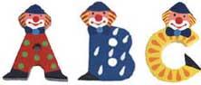 Jabadabado Minibokstäver clown
