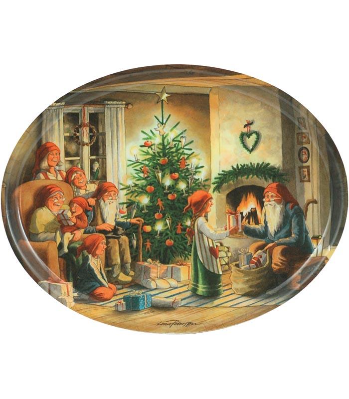 Bricka oval Julaftons kväll