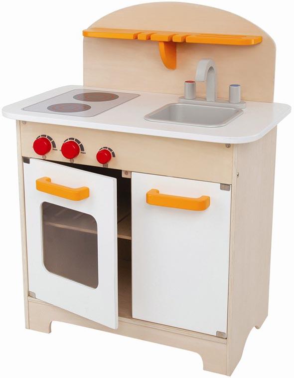 Hape litet vitt barnkök i trä, kök till barn Trä Otto Webbshop