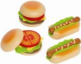 Leksaksmat Korv o hamburgare