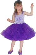 Minisa Utklädning klänning Ballerina blomma lila