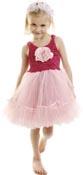 Utklädning klänning Ballerina blomma cerise