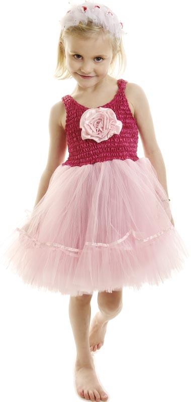Minisa Utklädning klänning Ballerina cerise