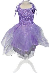 Utklädning Klänning med vingar lila