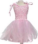 Utklädning Klänning med vingar rosa
