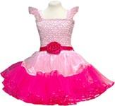 Utklädning Klänning ljusrosa/cerise
