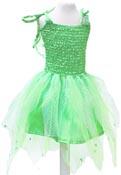 Utklädning Klänning med vingar grön