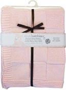 Barnfilt Stickad rosa