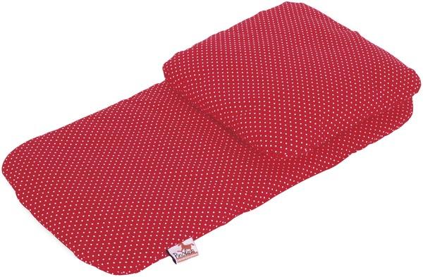 Pinolino Bäddset dockvagn Röd prickar