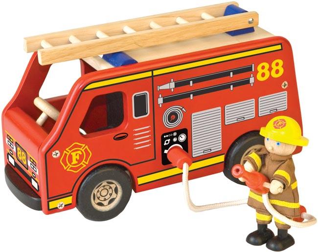Pintoy Brandbil med brandman