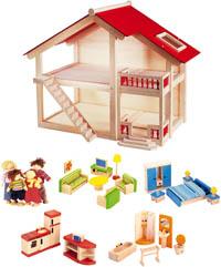 Pintoy Dockhus med möbler 2:sortering