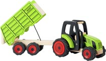 Pintoy Traktor med vagn trä