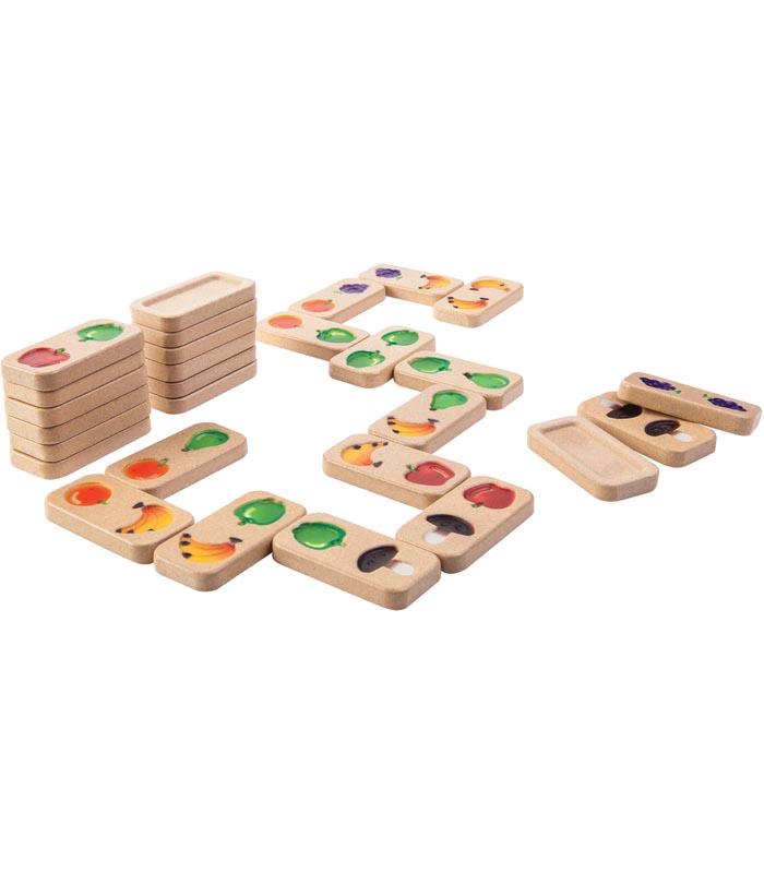 Plantoys Spel Domino Frukt & grönsaker