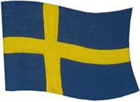 Kylskåpsmagnet Svenska flaggan