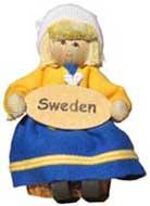 Butticki Sverigeflicka med skylt