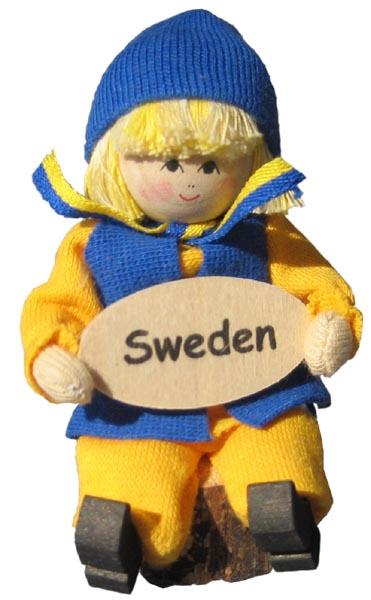 Butticki Sverigepojke med skylt