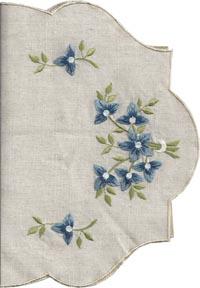 Duk blå blommor