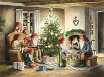 Bordstablett Julaftons kväll