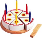 Santoys Leksaksmat Tårta med ljus