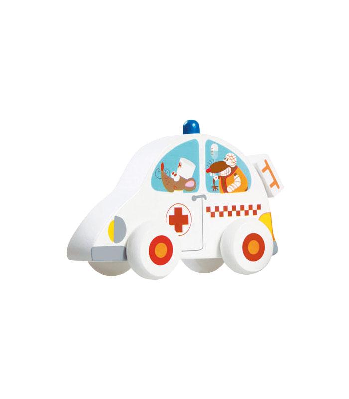 Scratch Träbil Ambulans