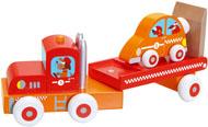 Scratch Trälastbil med Racerbil