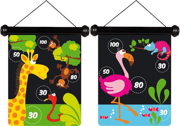 Scratch Spel Pilkastning magnetisk Zoo