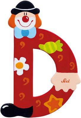 Sevi Bokstav clown D