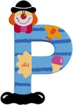 Sevi Bokstav clown P