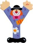 Sevi Bokstav clown Y