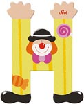 Sevi Bokstav clown H