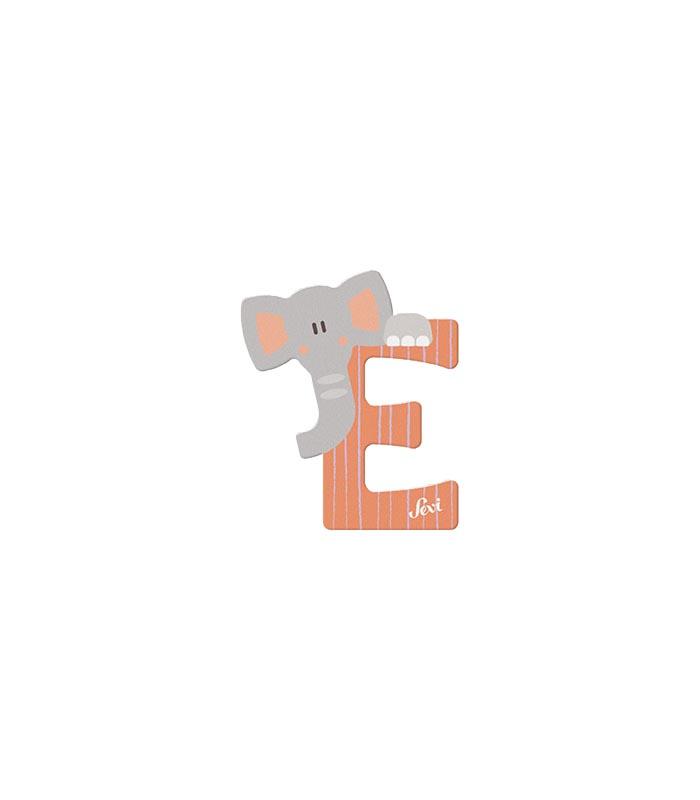 Sevi Bokstav djur pastell E