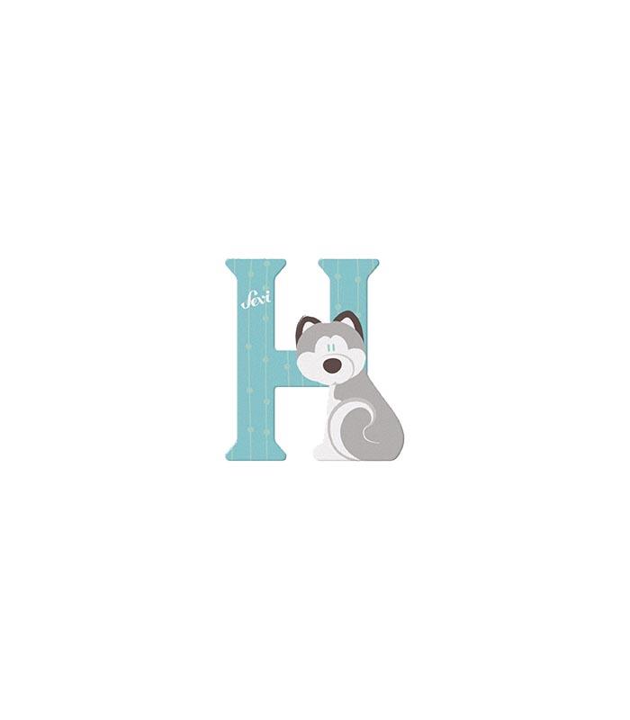 Sevi Bokstav djur pastell H