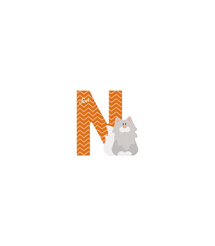 Sevi Bokstav djur pastell N