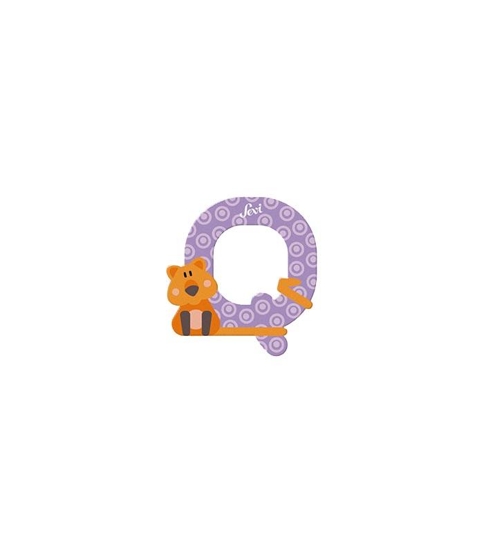 Sevi Bokstav djur pastell Q