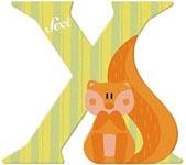 Sevi Bokstav djur pastell X