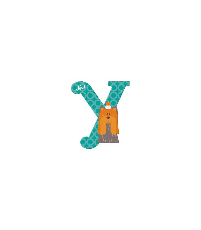 Sevi Bokstav djur pastell Y