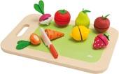 Sevi Leksaksmat frukt, grönsaker skärbräda
