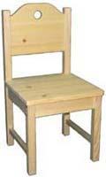 Barnstol Hål i ryggen
