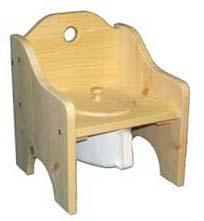 Pottstol Hål obehandlad
