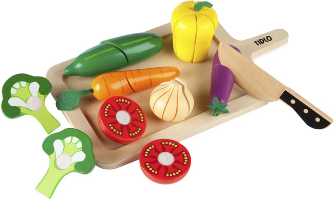 Tidlo Leksaksmat Grönsaker skärbräda