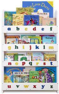 Tidy Books Bokhylla Vit bokstäver