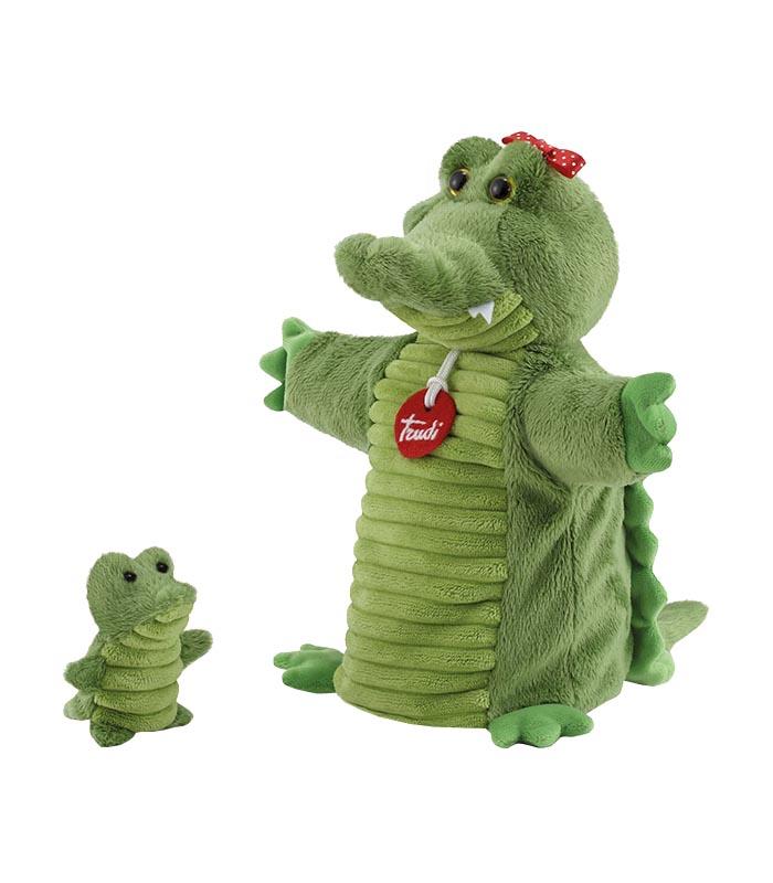 TRUDI handdocka & fingerdocka Krokodil