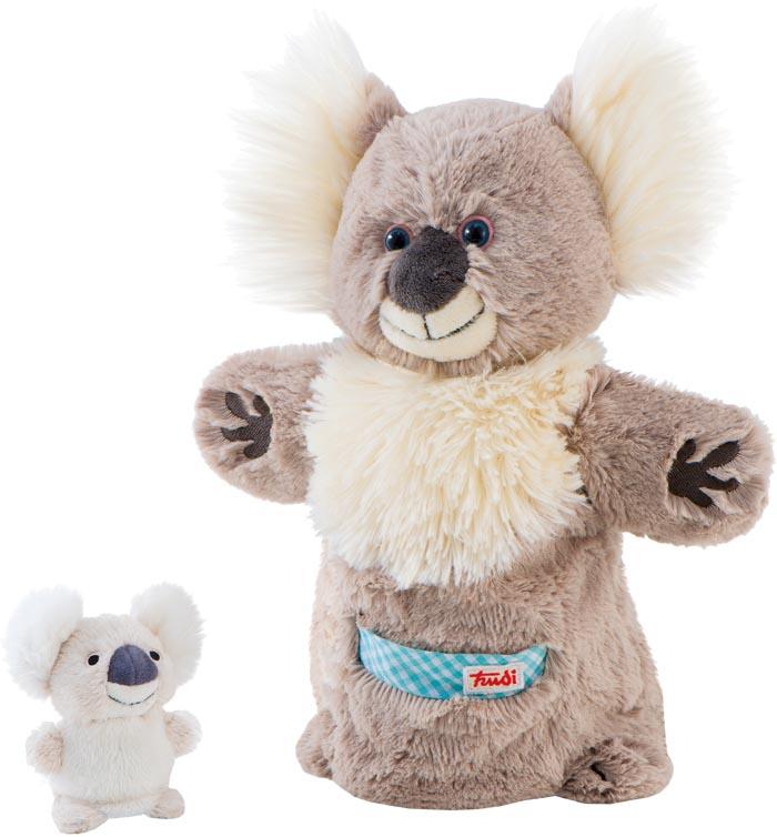 TRUDI handdocka Koala med fingerdocka