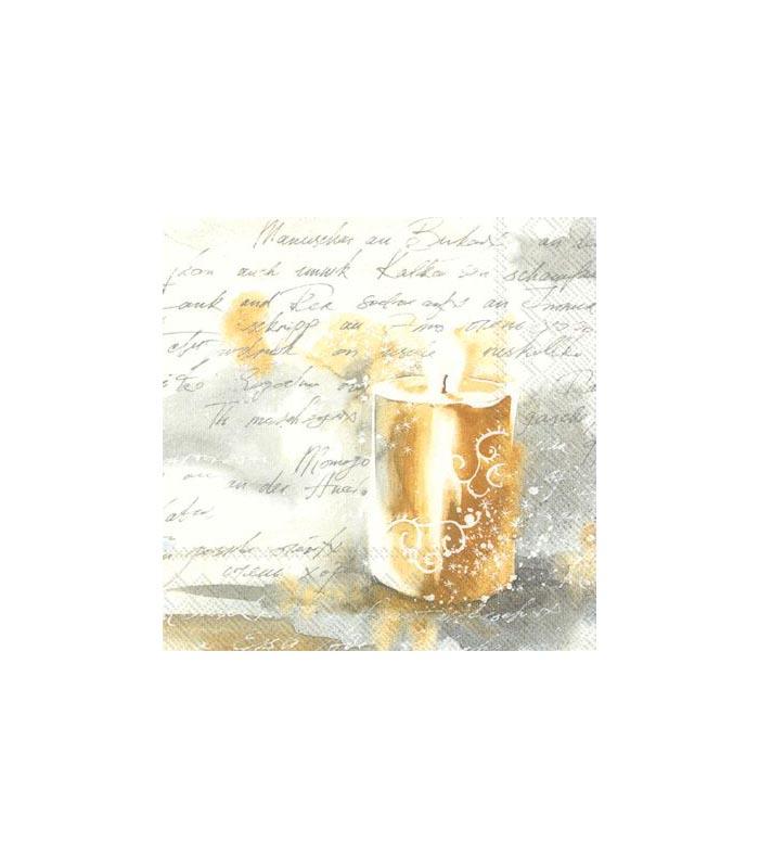 ihr Servetter Festive light gold silver