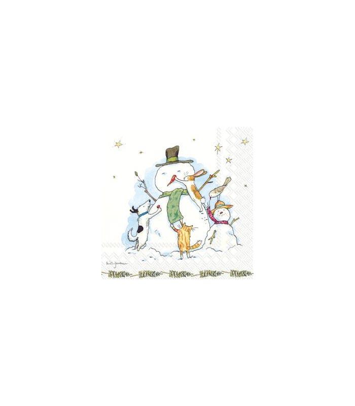 ihr Servetter Snowman with friends